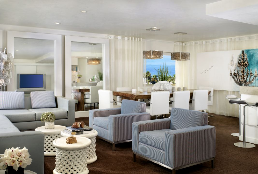 Presidential Living Room at The Huntley Hotel in Santa Monica