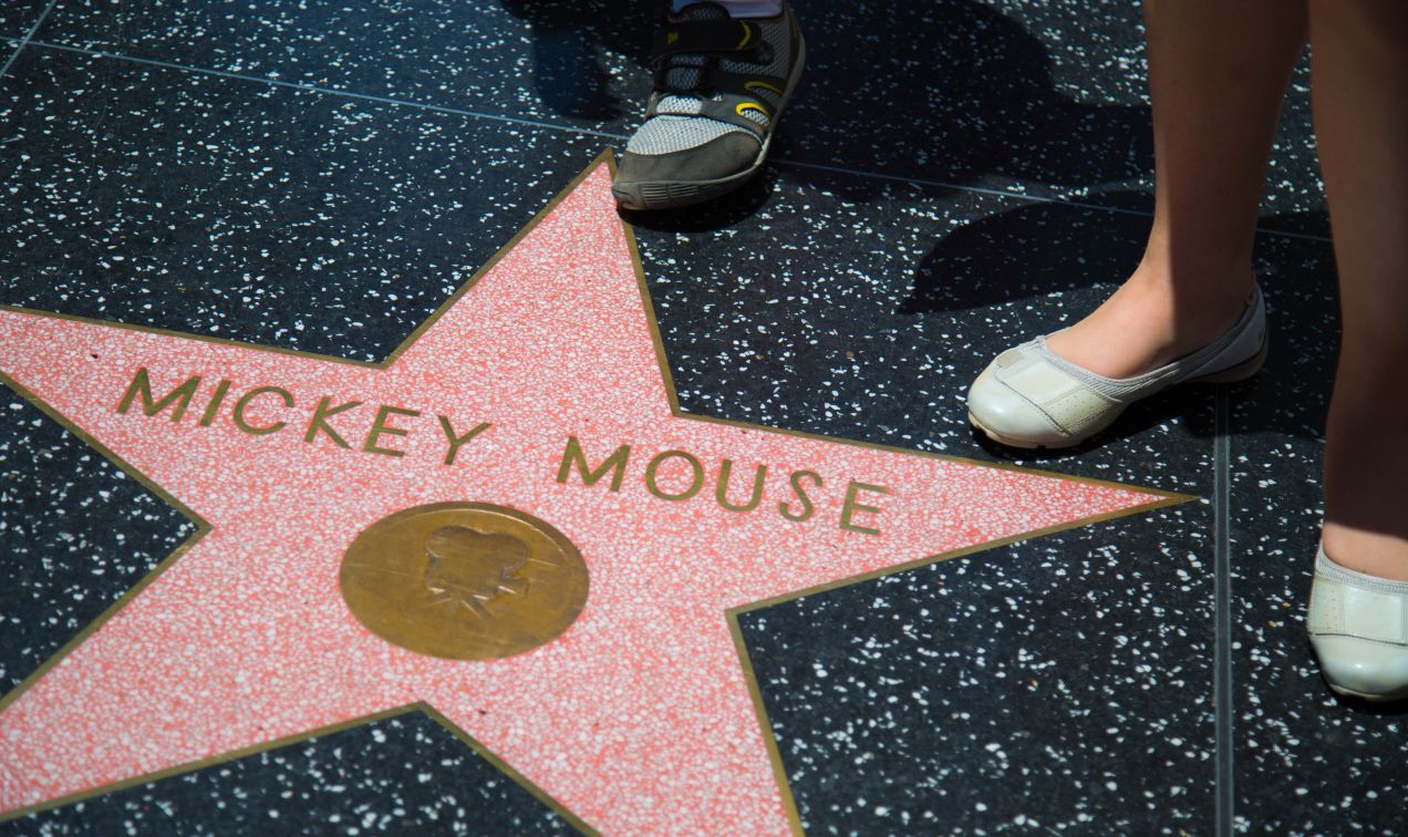 Mickey Mouse Star at the Walk of Fame